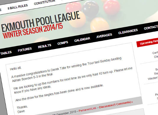 exmouth-pool-league-web-design